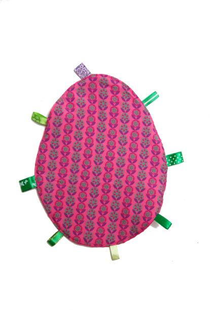 knuffeldoekje roze achterkant